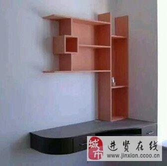 木工书架电视机背景墙