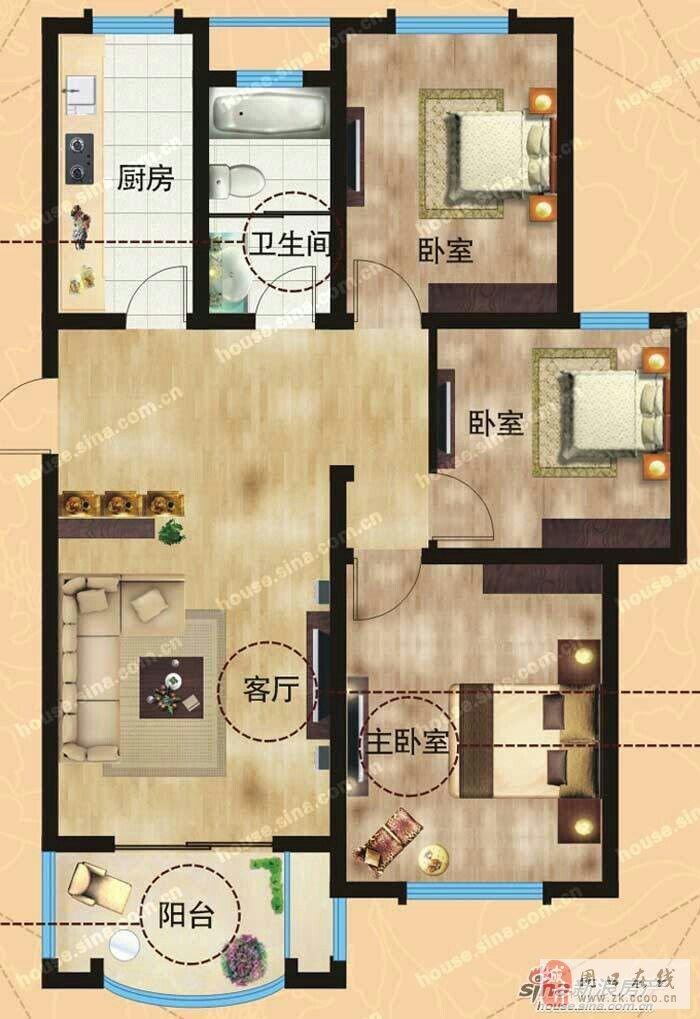 个人出售建业森林半岛三室两厅