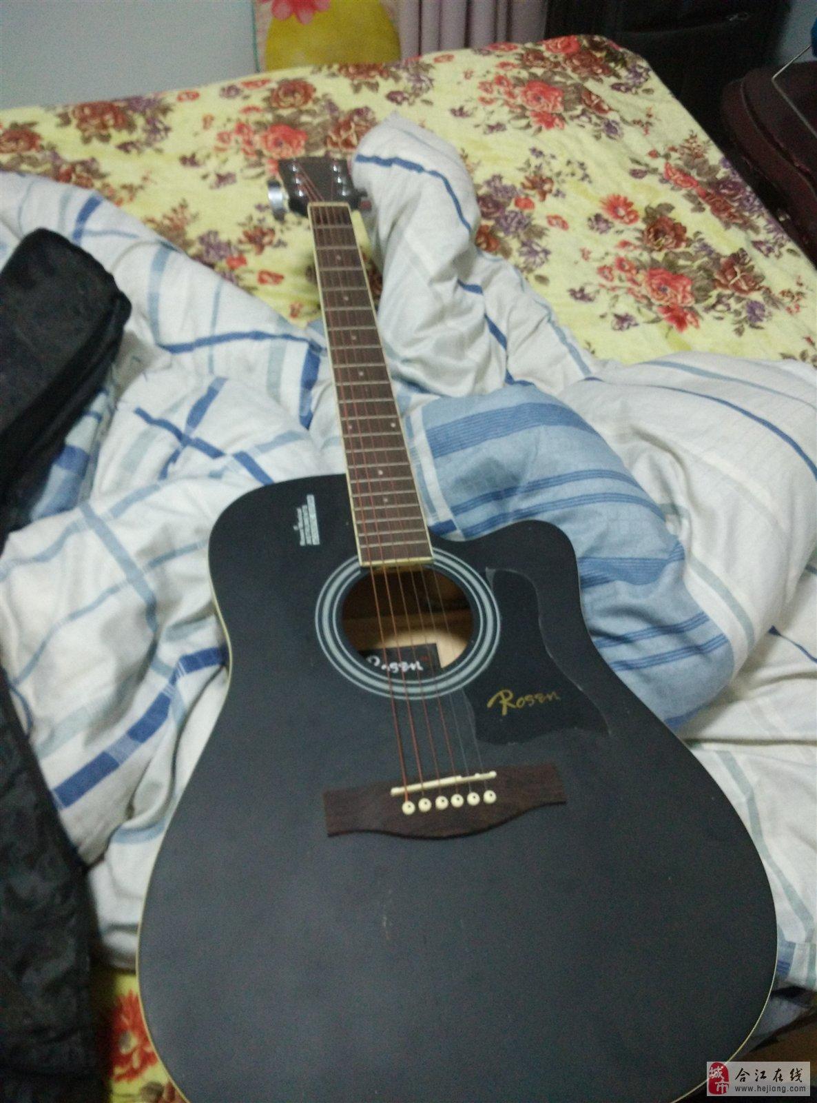 黑色基本全新的吉他