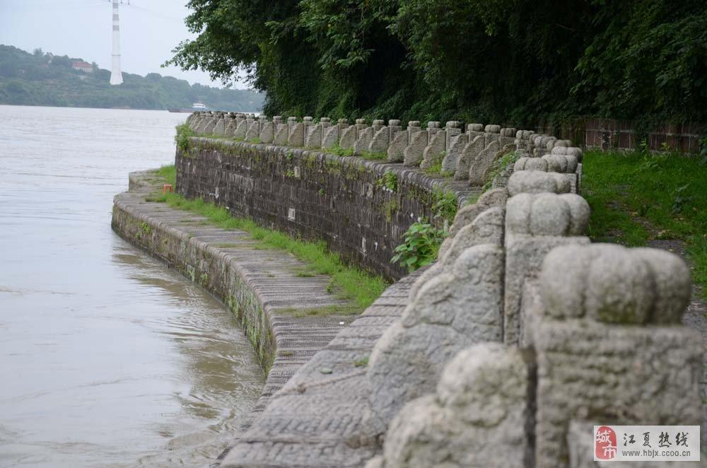 山村水系驳岸手绘
