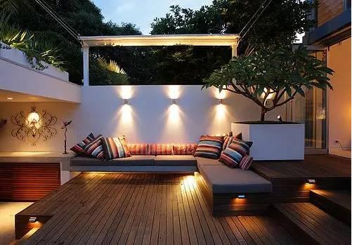 室内庭院,即便是在家里也有度假的感觉!