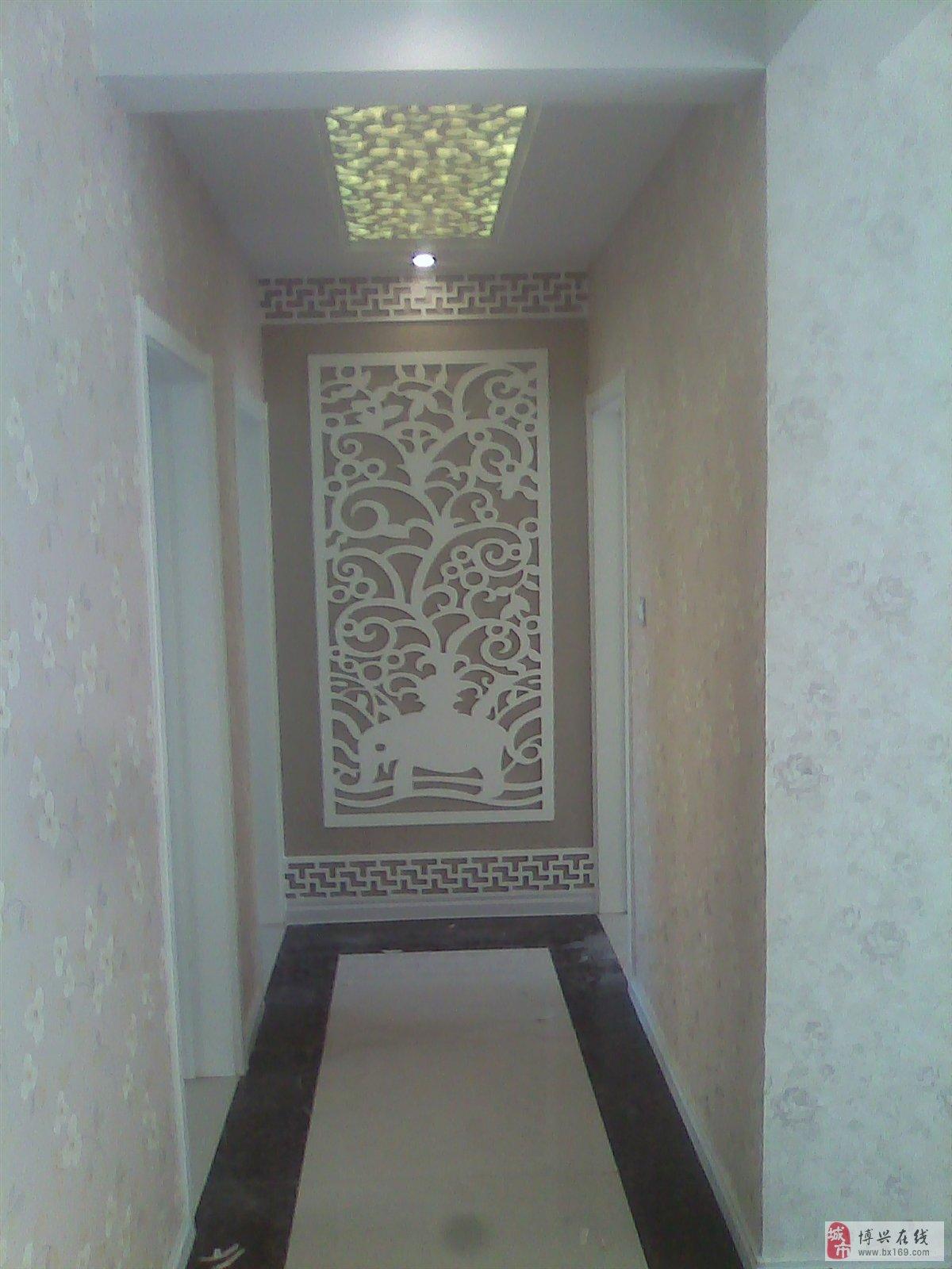 玄关时尚客厅白色雕花折叠屏风镂空蝴蝶屏风