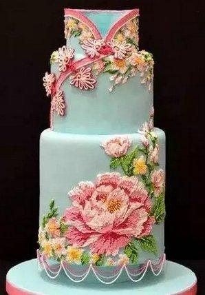 华丽丽的中国风婚礼蛋糕欣赏