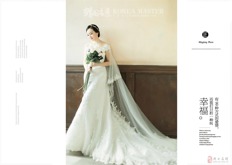 【韩国名匠】韩式婚纱摄影纯色背景与花田婚纱照最新