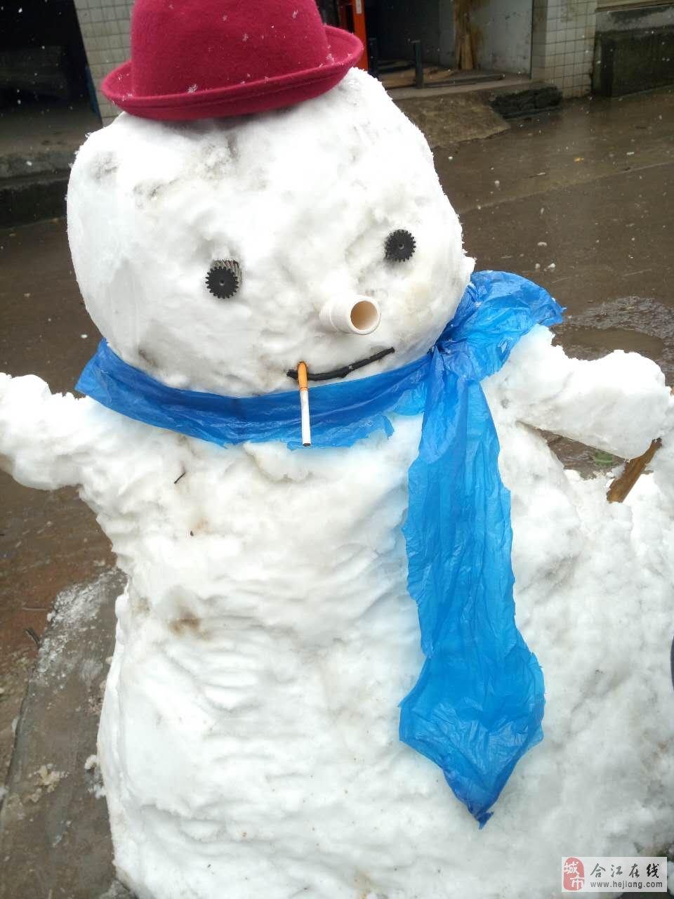 儿童画画堆雪人简单黑白