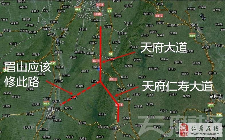 而现在仁寿县也在积极修筑继续将此大道延伸到仁寿县城,但天府仁寿图片