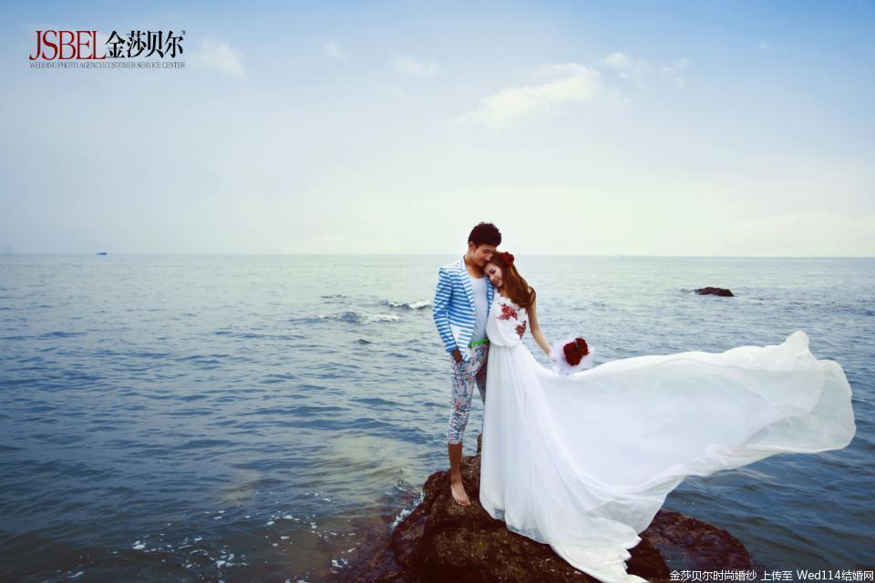 唯美海景婚纱照