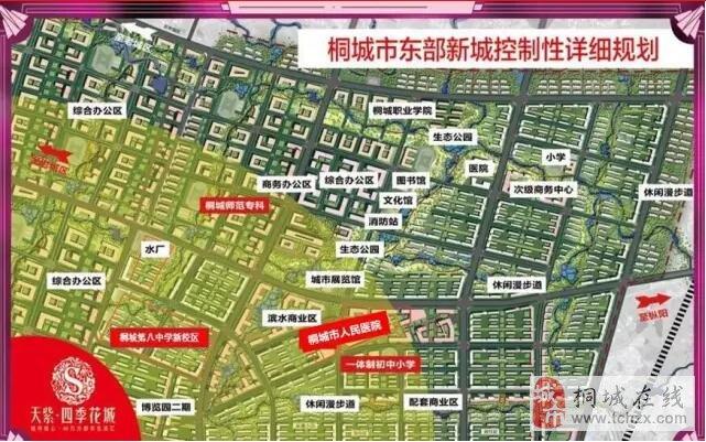 (东部新城规划图)-桐城人的 滨湖新区 正在崛起,房价看涨