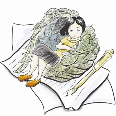 两个娃娃看书简笔画