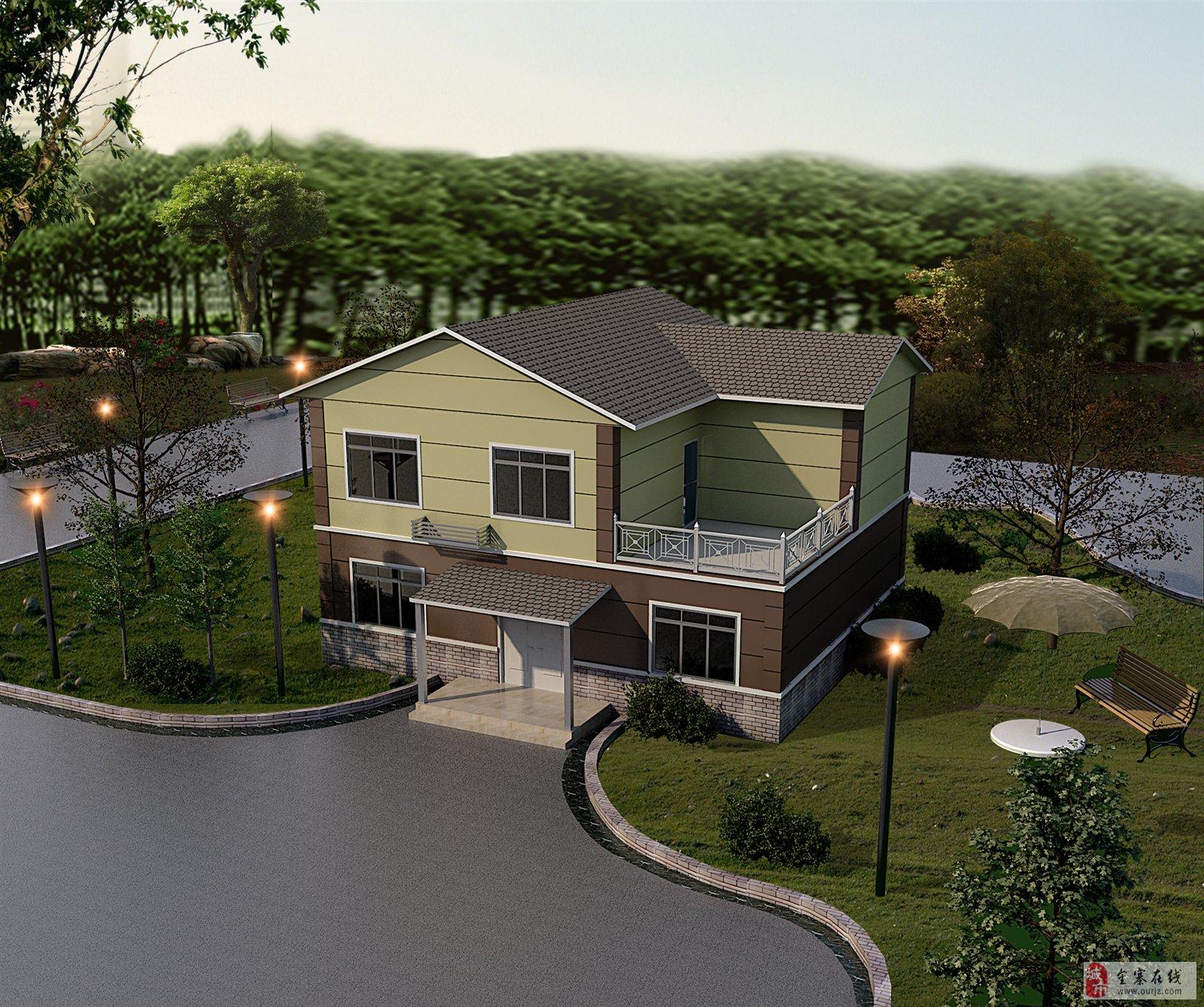 新农村中心村,建钢结构别墅样品房