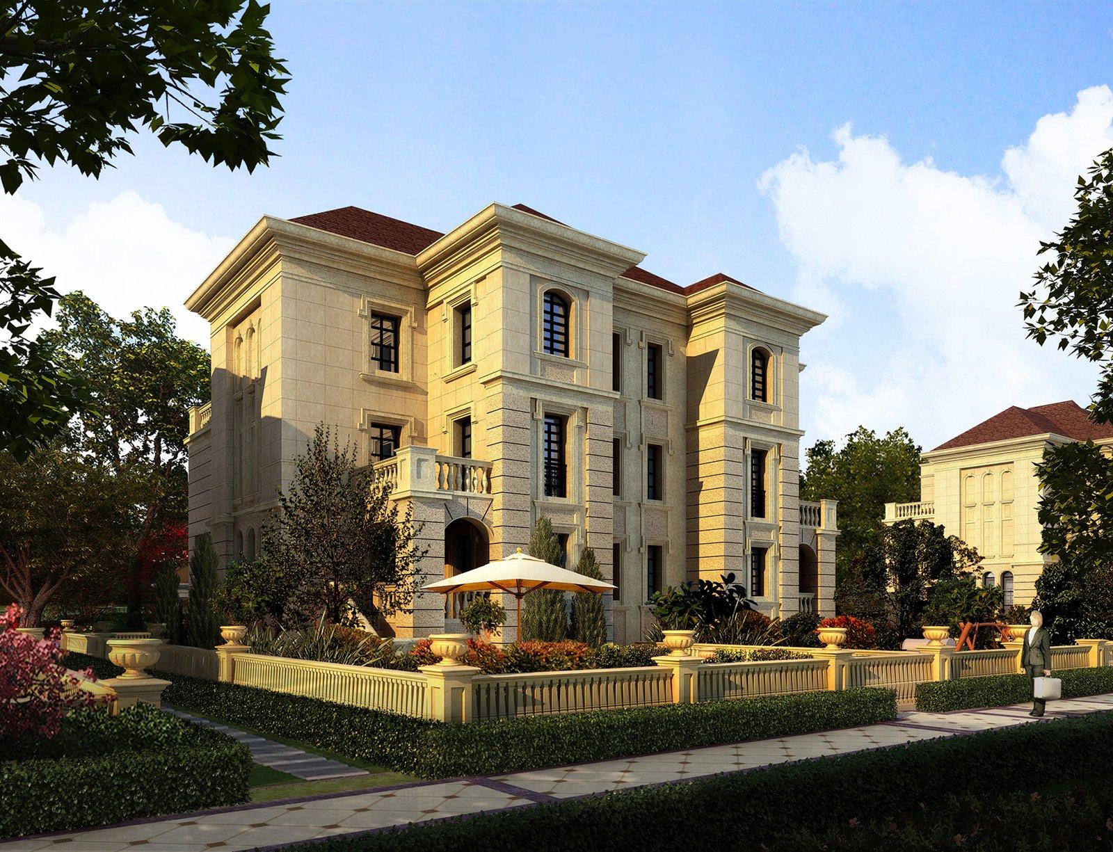 白城现代一品首席法式园林别墅区图片