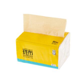 斑布本色纸竹纤维生态环保卫生纸纸巾抽纸130抽/包