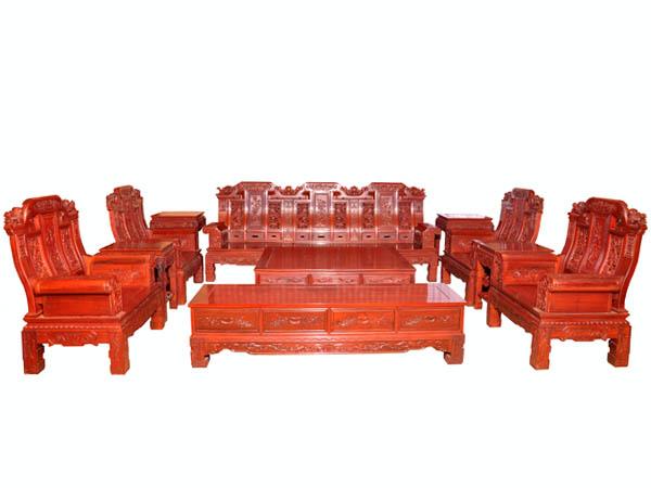 红檀大奔沙发十一件套_家居街_福州在线