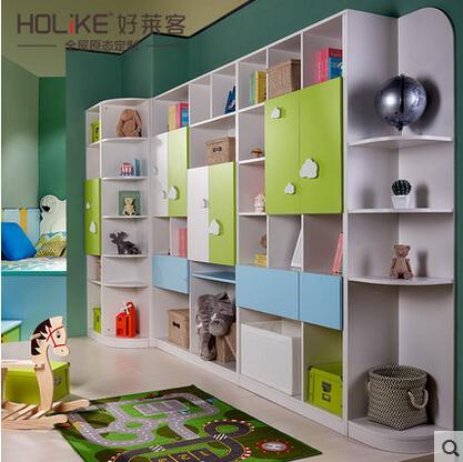 好莱客天鹅堡系列定制家具天蓝可爱多功能儿童床书柜书桌衣柜