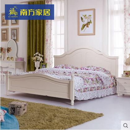 南方家居家私韩式田园床1.5米简约欧式床双人床1