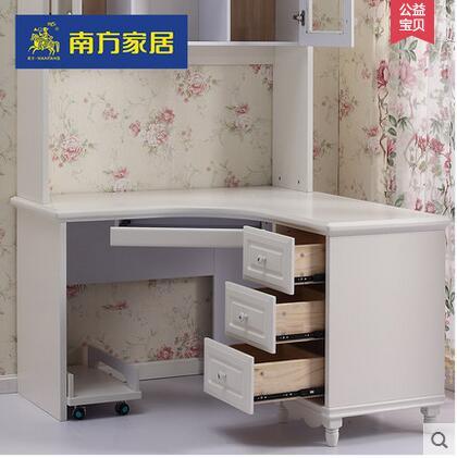 书桌书架组合连体欧