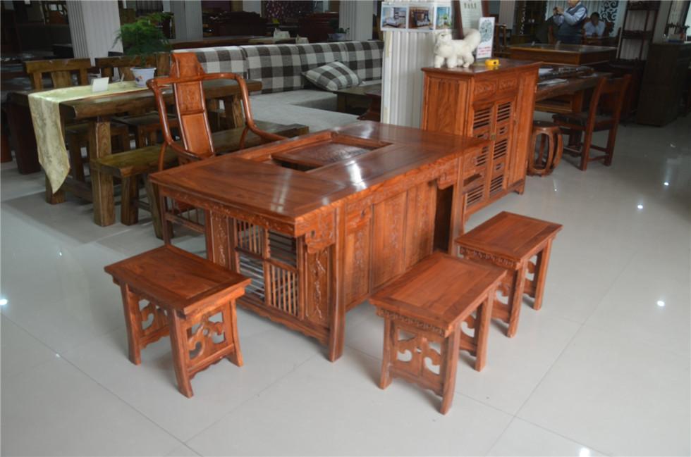 茶桌档板雕刻图片素材