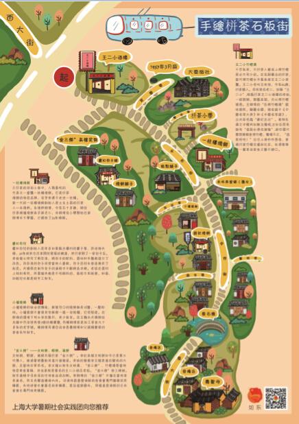 莘莘学子手绘栟茶旅游地图