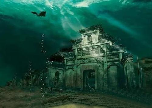 摄影师吴立新深入千岛湖底拍摄的千年古城.