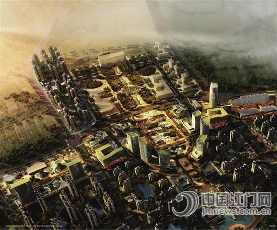 """三大片区""""——鹤山美雅产业新城,西江新区和城市文化中心片区的规划"""