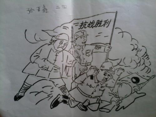 70周年阅兵简笔画_抗战胜利70周年简笔画