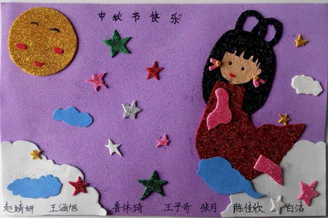 凤凰海绵纸粘贴画展示