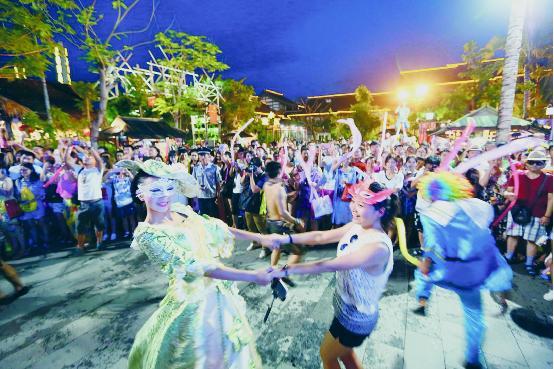 三亚宋城旅游区面具节活动精彩纷呈