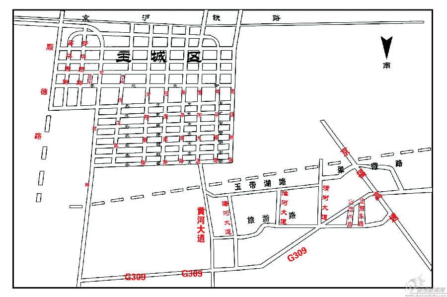 市场-米三里=黄河生态管委会-海洋馆-高新区-街后庄-丁庄-建邦大桥北.