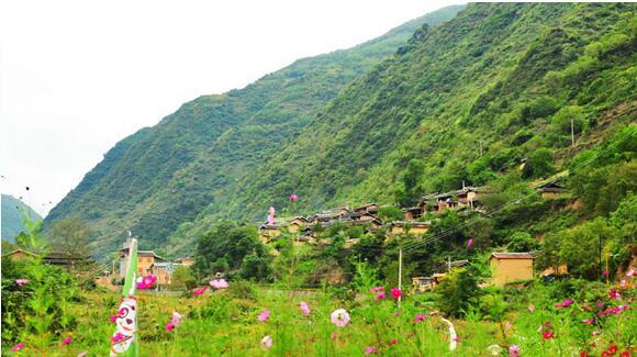 古代村落山寨风景