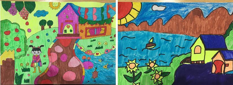 """华头小学举行以""""家园·美术·生活""""为主题的学生"""