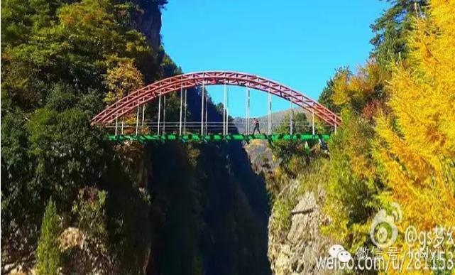 陇南首座悬空玻璃天桥在官鹅沟景区-鹅嫚沟建成