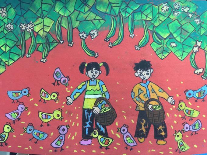 16年元旦学生绘画比赛一等奖作品欣赏 一年级到六年级都全了图片