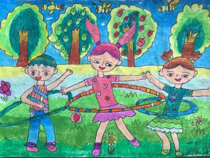 小学六年级元旦主题绘画图片