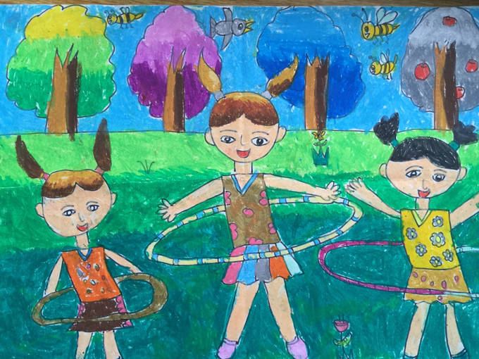一年级庆元旦儿童绘画_第5页_图片素材图片