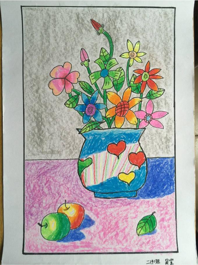 海底世界简笔画-琼海市第一小学2016年元旦学生绘画比赛一等奖作品