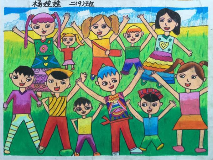 五年级一等奖儿童画内容|五年级一等奖儿童画版面设计