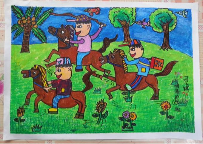 小学生元旦画报竖版展示