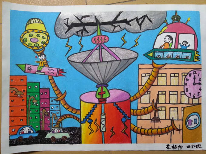 琼海市第一小学2016年元旦学生绘画比赛一等奖作品欣赏 一年级到六