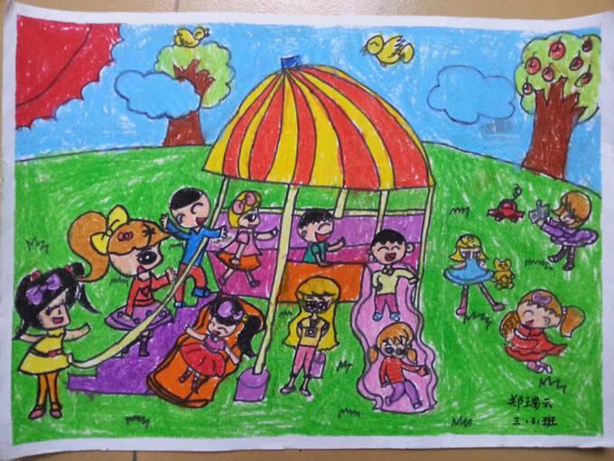 16年元旦学生绘画比赛一等奖作品欣赏 一年级到六年级都全了