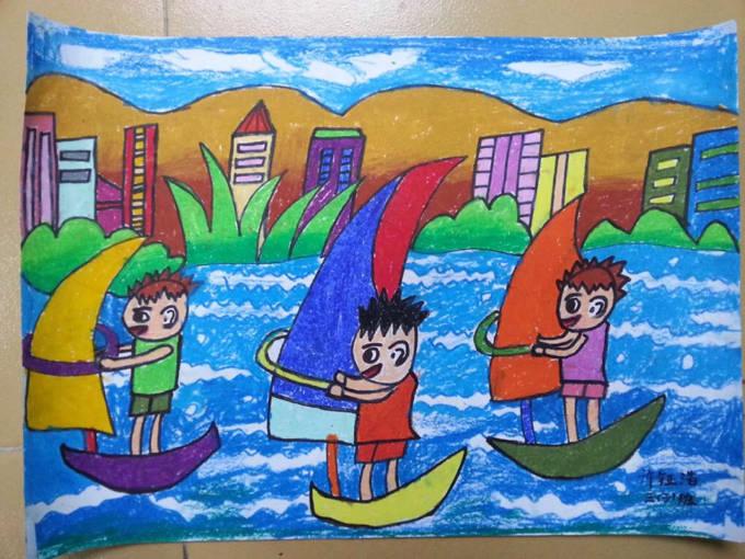 琼海市第一小学2016年元旦学生绘画比赛一等奖作品欣赏(一到六年级)图片