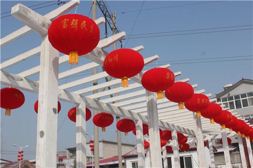 中牟县东风路街道办事处万盏灯笼迎新年