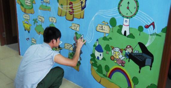 珠海幼儿园墙体彩绘,珠海墙绘,珠海手绘,珠海彩绘,珠海香洲幼儿园墙绘