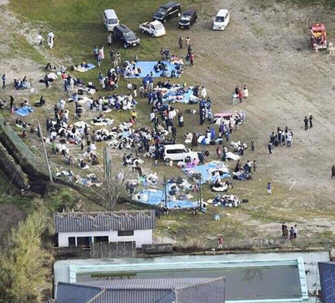 航拍日本九州7.3级地震 山崩地裂