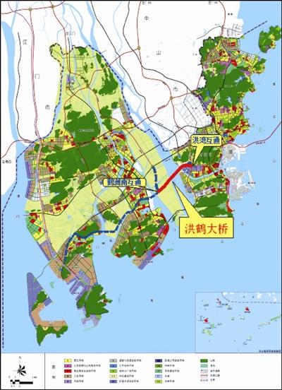 珠海市洪鹤大桥工程路线起点位于珠海市香洲区