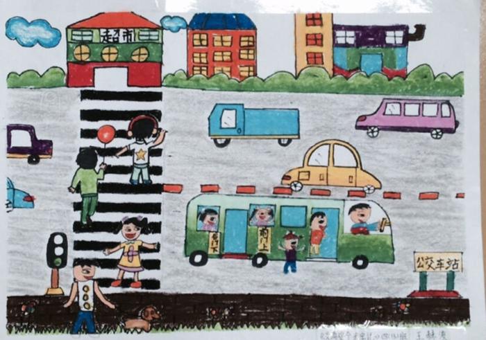 琼海市第一小学安全教育主题活动月学生绘画作品展
