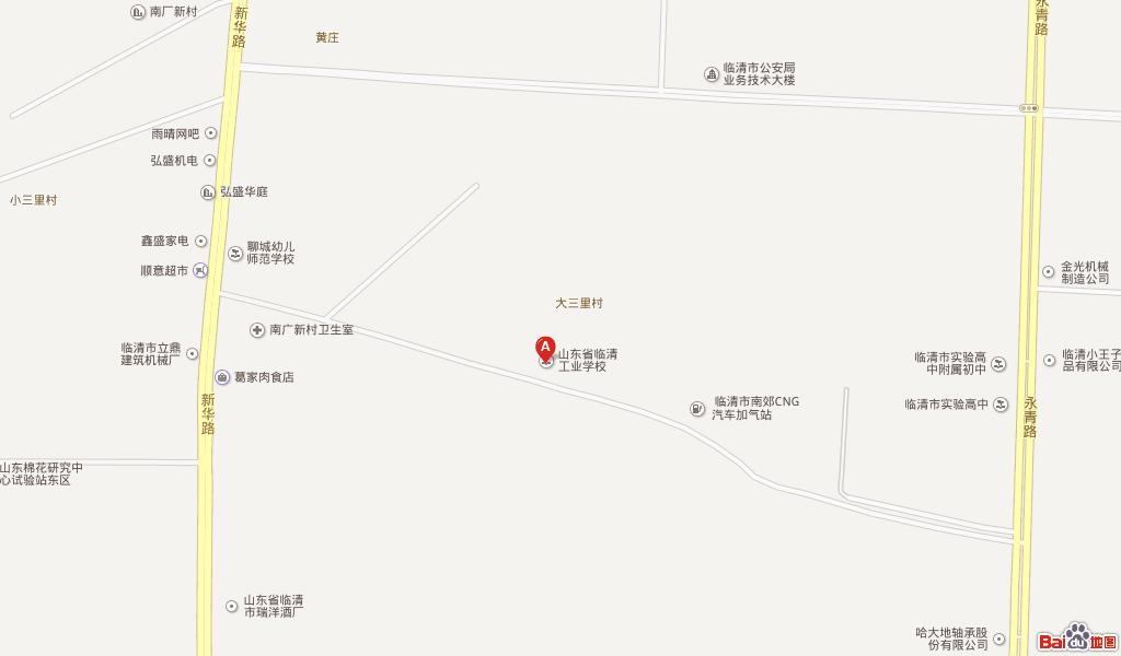 临清市区街道详细地图
