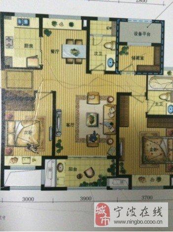 房屋设计图三室朝南