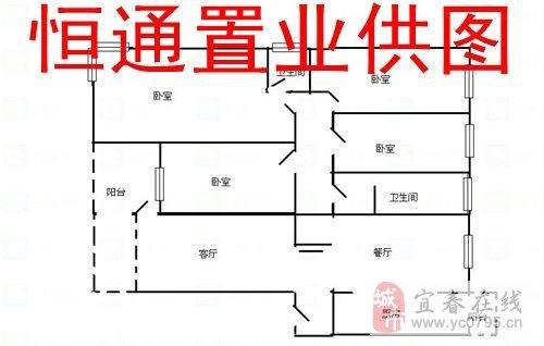 四室一厅一厨二卫房屋设计图平面图