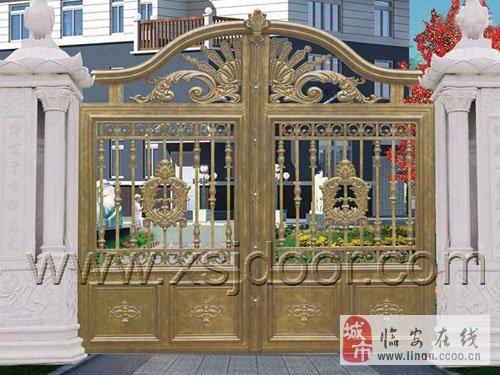 私家庭院门 铸铝别墅院墙门 遥控铝艺围墙门