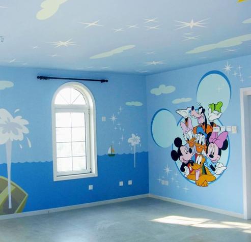 立体壁画制作:墙体彩绘,手绘壁画,画背景墙手绘电视背景墙,画电梯门